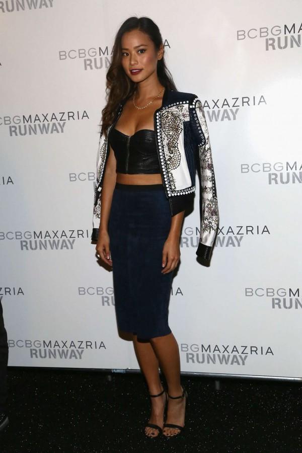 jacket jamie chung skirt pencil skirt fashion week 2014