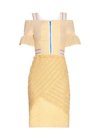dress lace light yellow