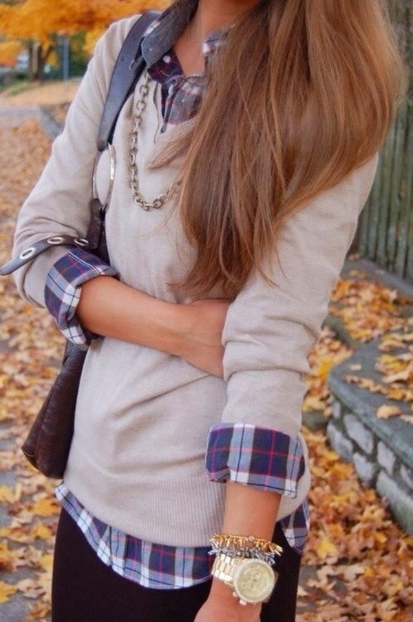 shirt sweater blouse cardigan plaid flannel shirt fall sweater beige looking for same style sweater any neutral color fall outfits