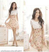 dress,flowers,cute dress,cute,summer,summer dress,short dress,floral,empire waist,empire bust,chiffon