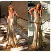 dress,gold,gold sequins,sequins,prom,prom dress,prom gown,long dress,long prom dress