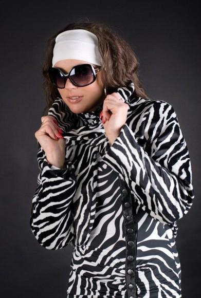 zebra print jacket style fashion