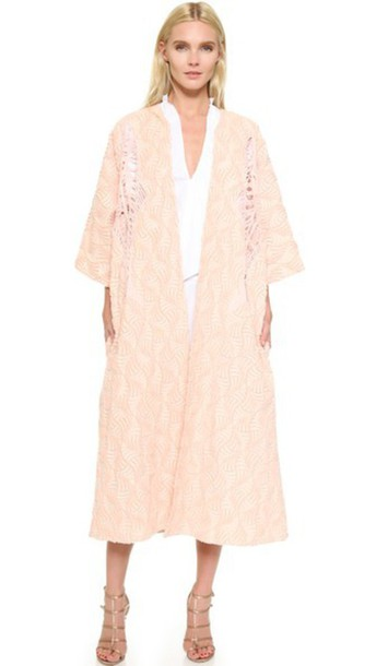 Tome coat jacquard pink
