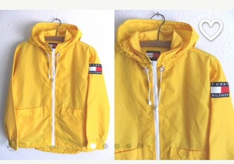 jacket rainjacket poncho rain jacket yellow jacket tommy hilfiger