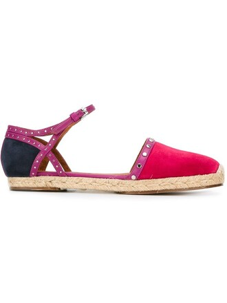 ankle strap espadrilles purple pink shoes