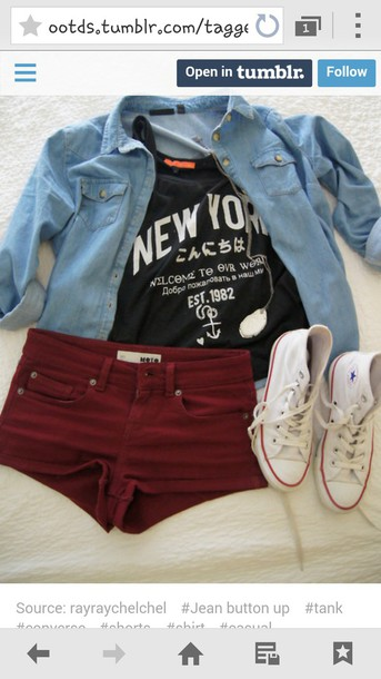 shorts shoes shirt