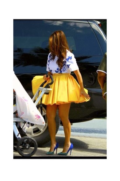 yellow skirt skirt