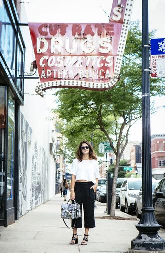 chicityfashion blogger shirt pants shoes bag sunglasses jewels