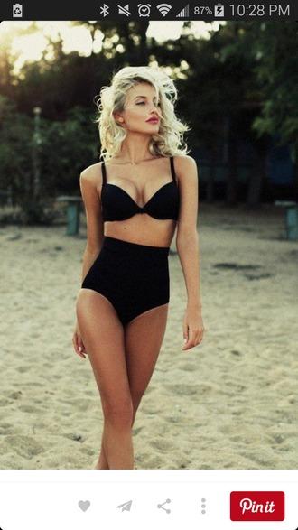 swimwear black bikini bikini classic bikini black swimwear