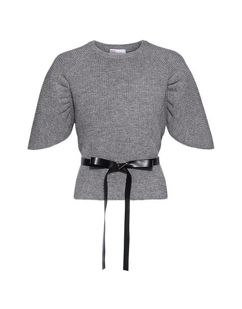 RED VALENTINO sweater flare grey