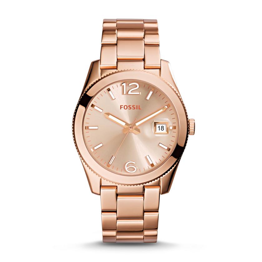 Perfect Boyfriend Three-Hand Date Stainless Steel Watch - Rose