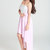Pink Sequin Dress - Light Pink Silver Sequin Strapless | UsTrendy