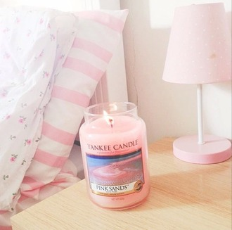 home accessory scented candle candle yankee candle pink cozy