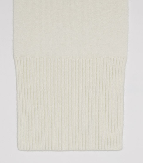 Juliana Scarf White Blend Scarf - REISS