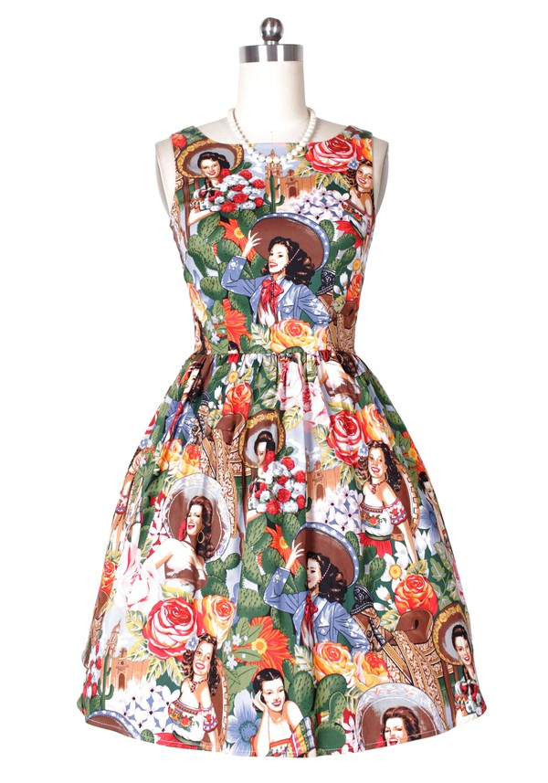 Pin up Pin up Pin up Pin up vintage dress women's dress fashion dress printed dress 50s style 50s style 50s dress 50s dresses audrey hepburn swing dress rockabilly style print dress rockabilly dress housewife dress