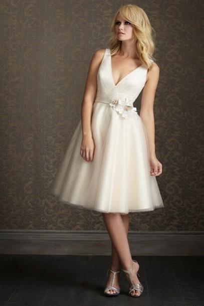 dress short dress wedding clothes white