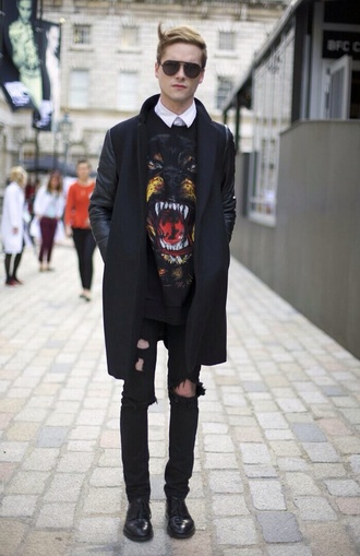 coat givenchy urban outfitters streetwear menswear mens coat