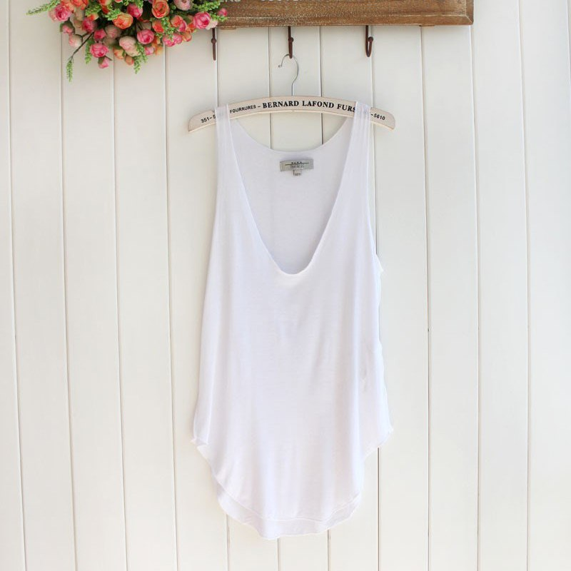 Free shipping 1pc fashion summer womens sleeveless v neck vest loose tank tops camisole t shirt 5 color