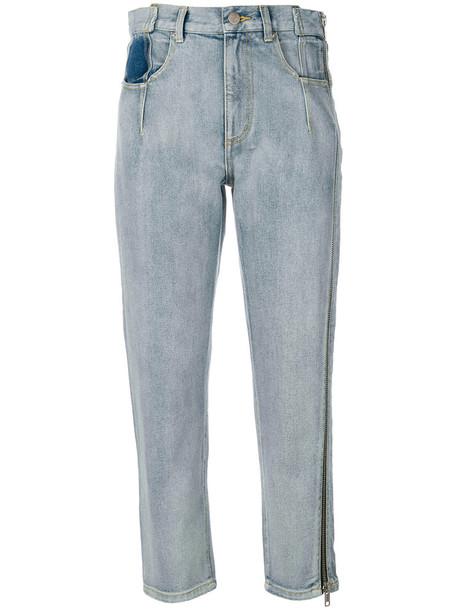 jeans denim women cotton blue