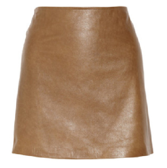 tan faux leather brown skirt pencil short skirt short