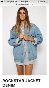 jacket,peppermayo,denim jacket,oversized jacket