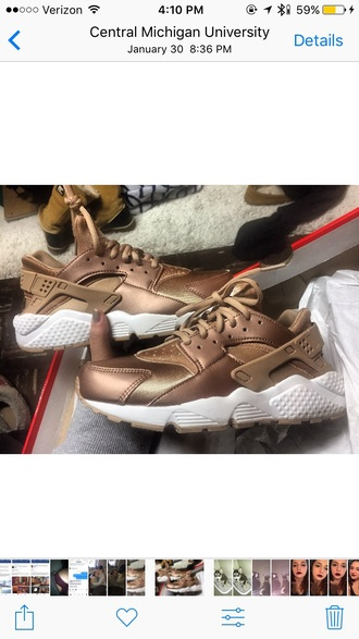 shoes nike huarache rose gold gold running shoes running rose