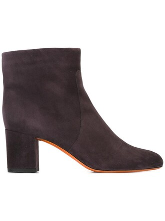 women boots ankle boots leather suede grey shoes
