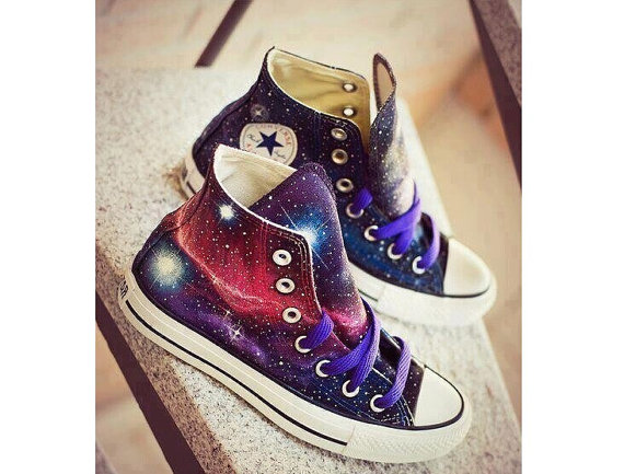 76cdba6a82f5 Galaxy Converse shoes Custom Converse Galaxy Converse ...