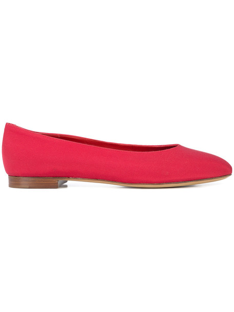 Mansur Gavriel women leather silk red shoes