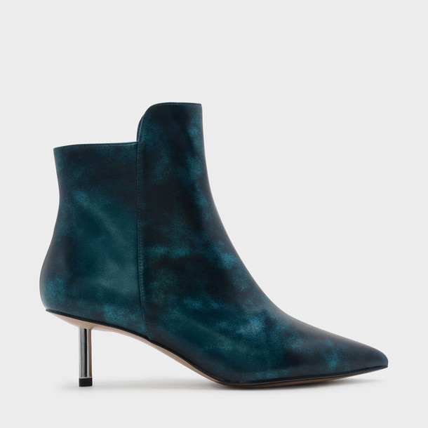 boot heels teal shoes