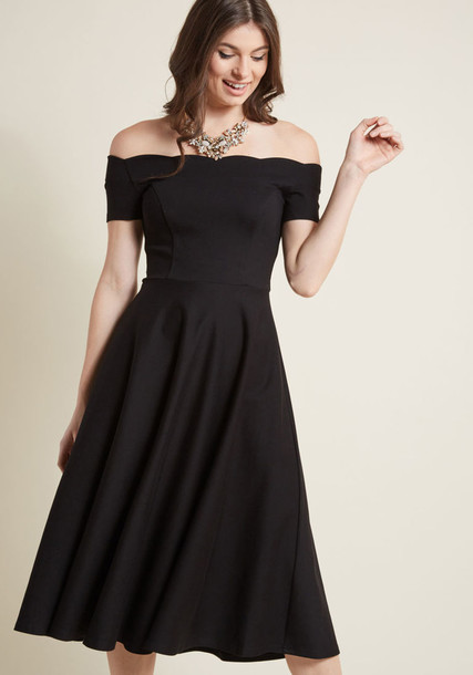 MDD1234 skirt straps soft midi classic scalloped black knit