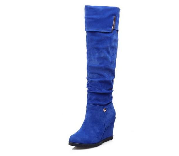 shoes blue boots