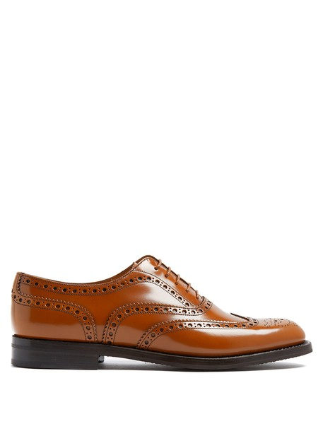 Church's leather dark brown shoes