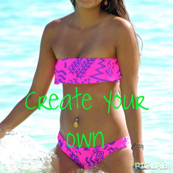 Hilo 1Ruffle Bikini Top  1 Choose Style 2 by PeaceOfParadise
