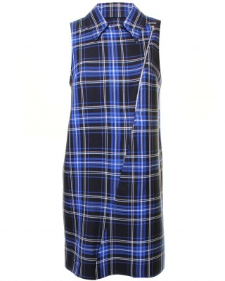 LOVE Blue Tartan Biker Dress - In Love With Fashion