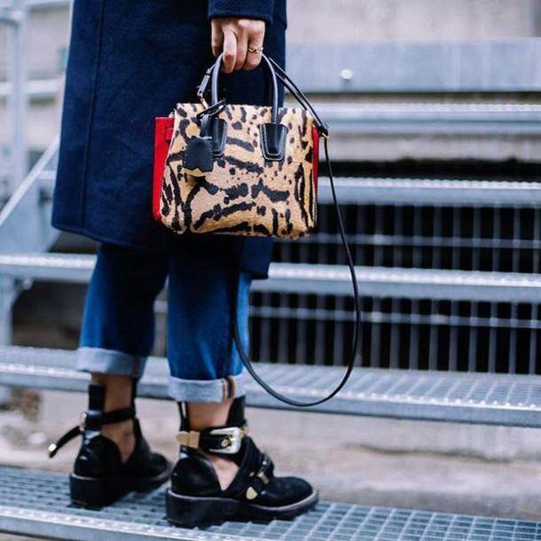 e905b7de76cd bag tumblr printed bag shoes black shoes cut out ankle boots ankle boots  black boots flat