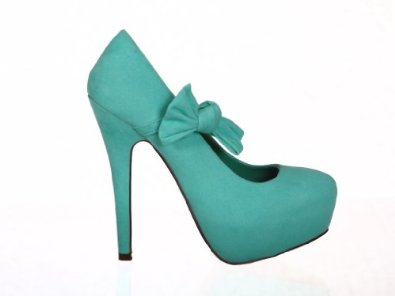 Amazon.com: Platform Faux Suede Pumps Ribbon Band High Heels: Shoes