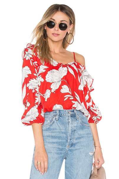 Lovers + Friends top red