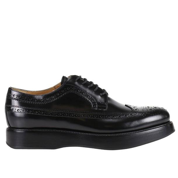 Churchs high opal shoes leather pattern black