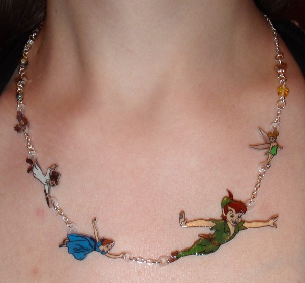 jewels peter pan disney necklace