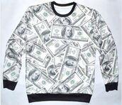 money,money sweatshirt,money sweater,cash,cash money,ymcmb,ymcmb sweatshirt,drake