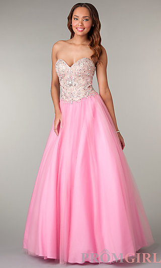 Prom Dresses, Celebrity Dresses, Sexy Evening Gowns - PromGirl: Strapless Sweetheart Floor Length Dress