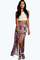 Shelley boho print side slit maxi skirt