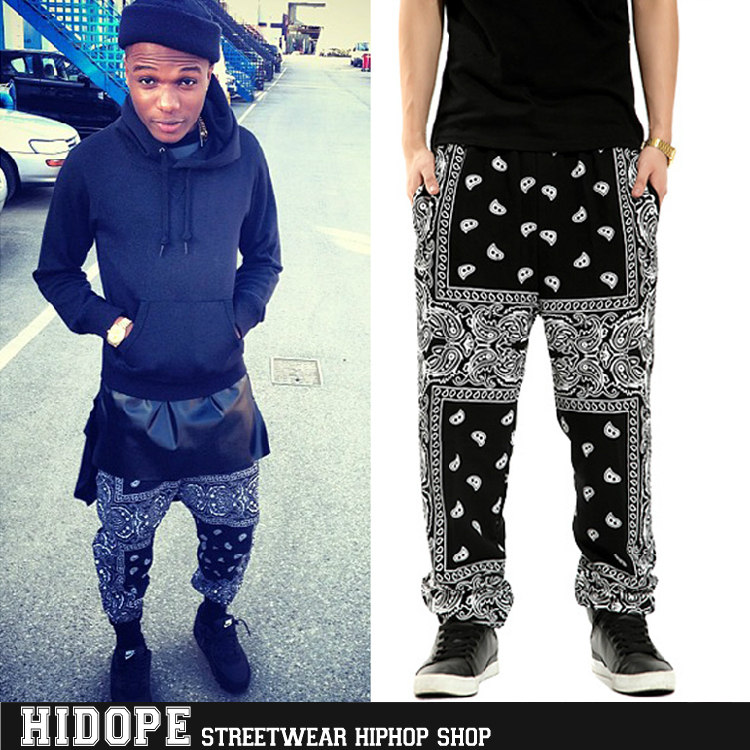Hot Seller !!! 2014 Cease Desist West Cost Bandana Pants Heybig Hip Hop Pants Paisley Harem Pants Men Wholesale -in Pants from Apparel & Accessories on Aliexpress.com