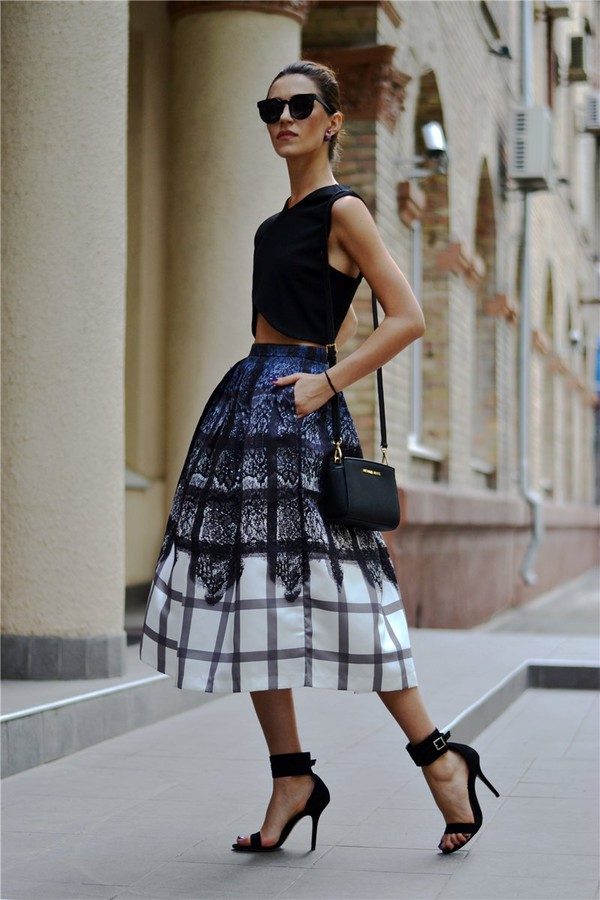 blogger bag tina sizonova top jewels skirt shoes