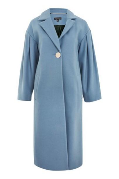 Topshop coat blue