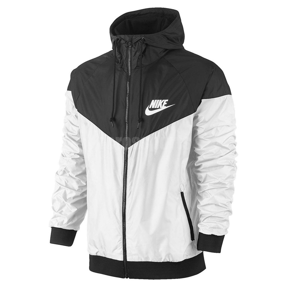Size Nike Windrunner Black White Windbreaker Mens Jacket Hoodie ...