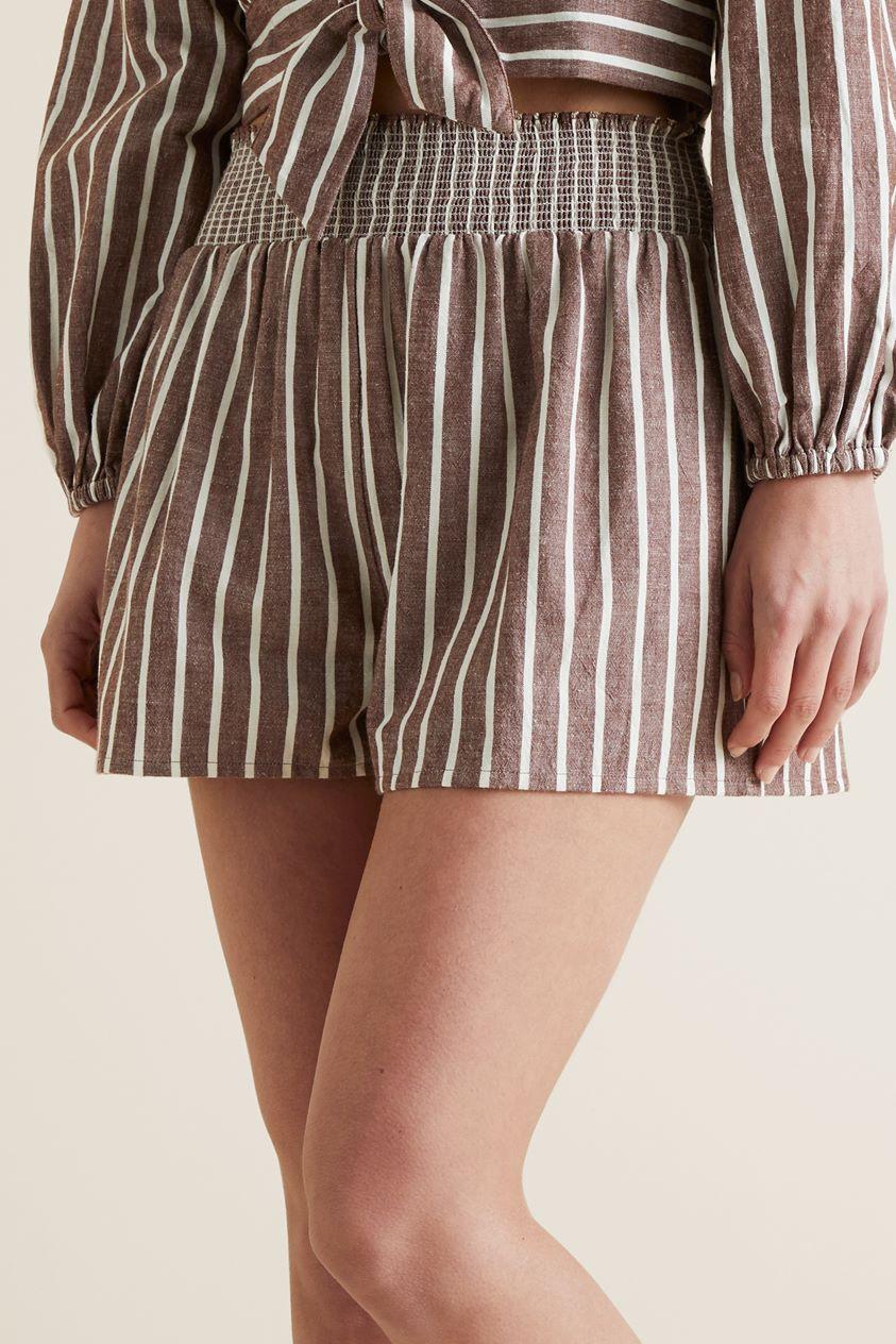 Shirred Stripe Short