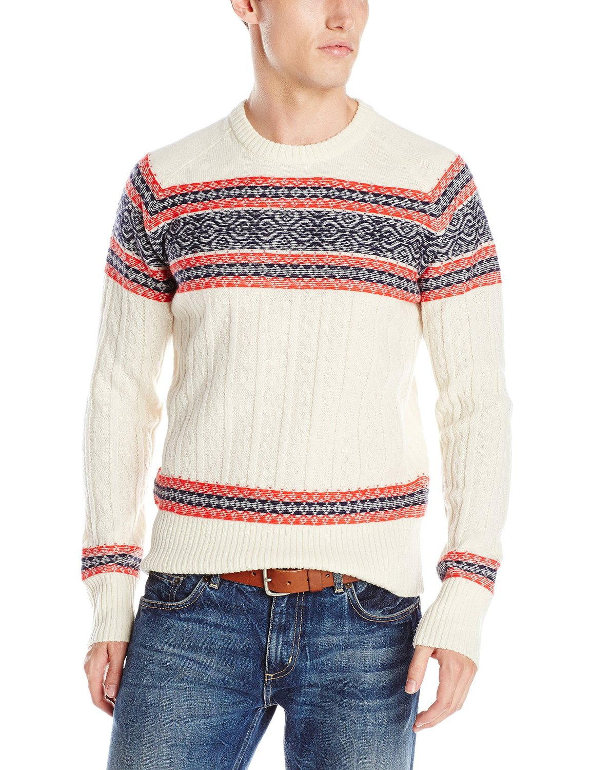by Michael Bastian Men's The Winter Fair Isle Crew-Neck Sweater at ...