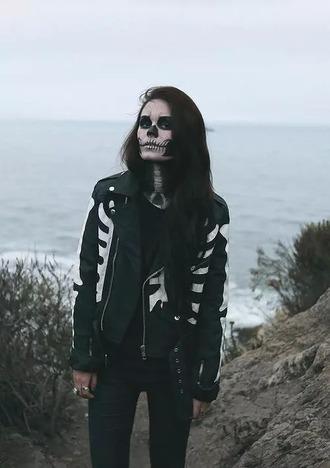 jacket bones skeleton halloween halloween costume